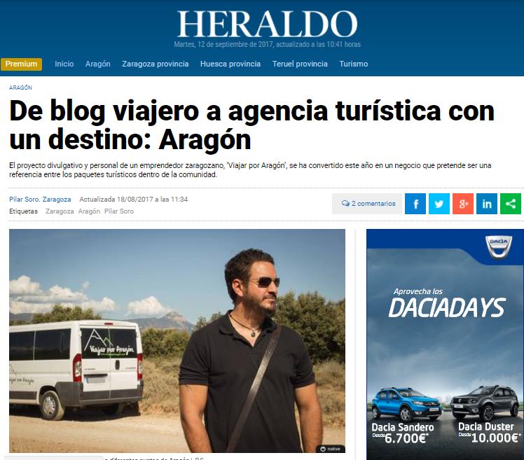 Viajar por Aragón en el Heraldo de Aragón
